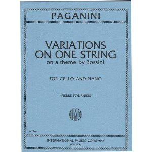 Paganini Niccolo Variations on One String on Theme by Rossini Moses Cello,Piano International Music